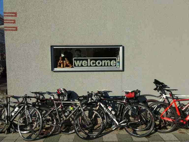 Photo of many road bikes