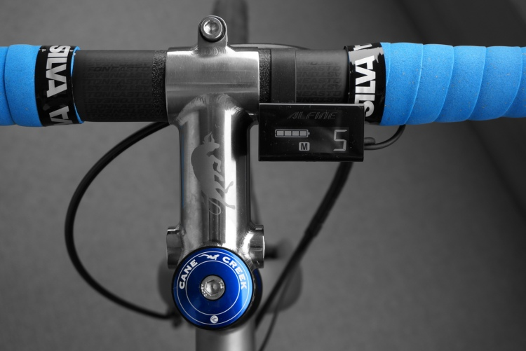 DMCX design titanium bicycle stem view from the top