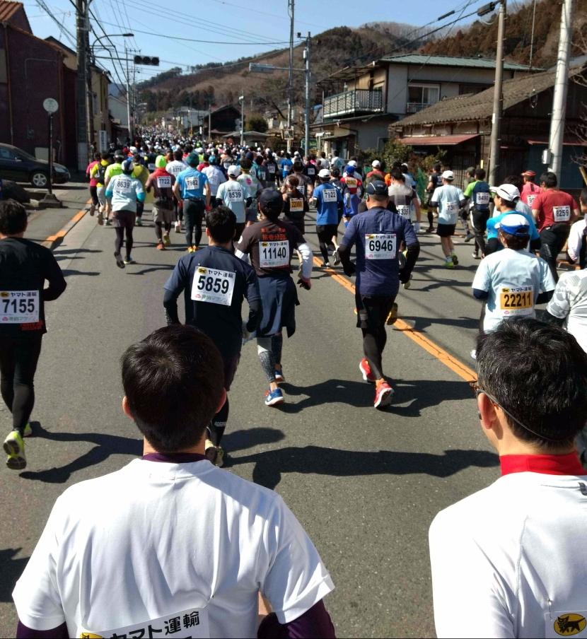 Running Ohme Marathon(青梅マラソン)