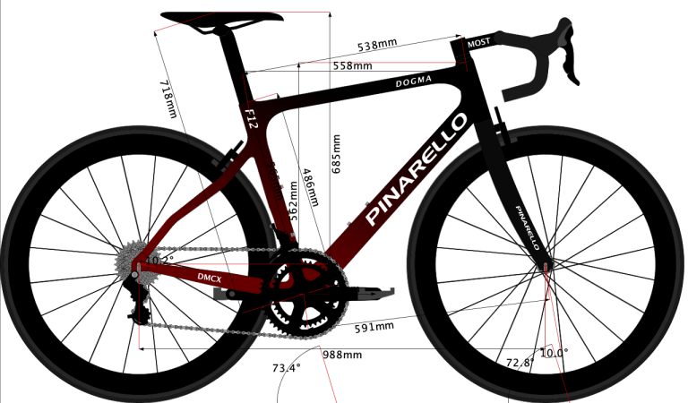 drawing sketch of Team Ineos 2019 bike